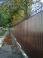 Забор из профнастила с коваными пиками