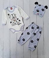 """Боді зі штанишками для новонароджених """"Песик"""" 3-6-9 мес. Опт"""