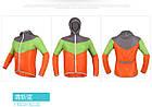 Дощовик / куртка вітровка KINGBIKE L115 / L114 ПОЛЕГШЕНА (90 г) +капюшон +кишеня, фото 7