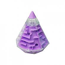 Головоломка 3D-лабиринт F-4 Пирамида (Фиолетовый)