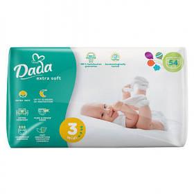 Підгузки DADA дада Extra Soft 3 (54 шт / 4-9 кг) екстра софт