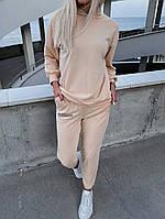 Спортивний костюм жіночий з двунити Написи з капюшоном (Норма), фото 2