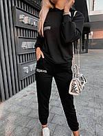 Спортивний костюм жіночий з двунити Написи з капюшоном (Норма), фото 5