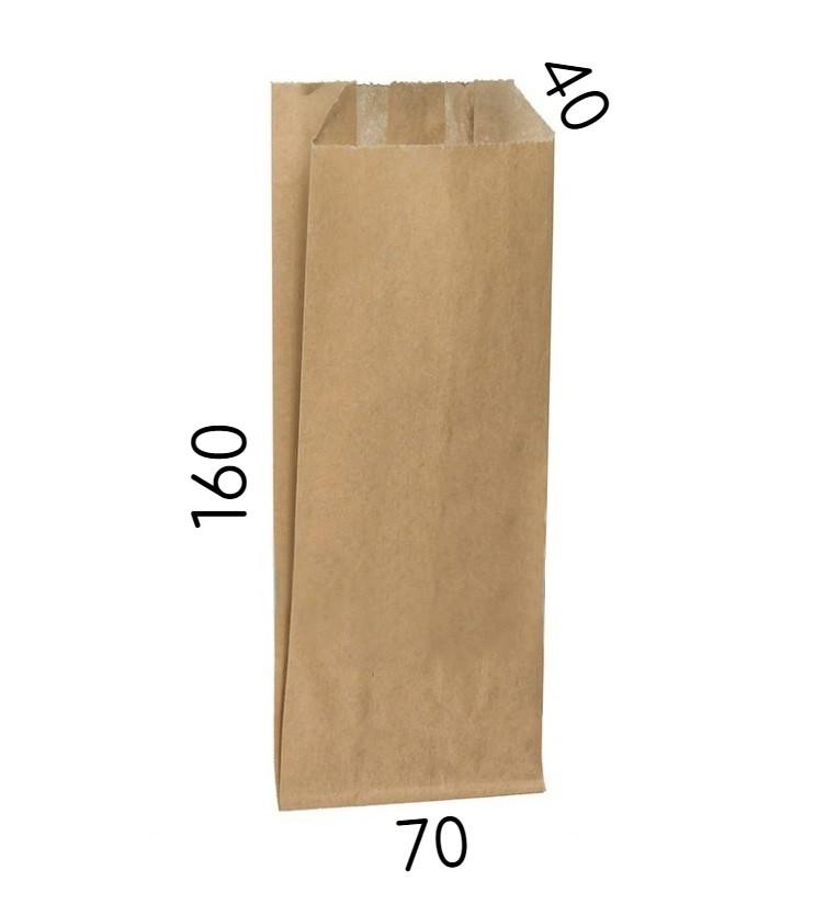 Крафт пакет без ручек - 70 × 40 × 160 мм - для столовых приборов