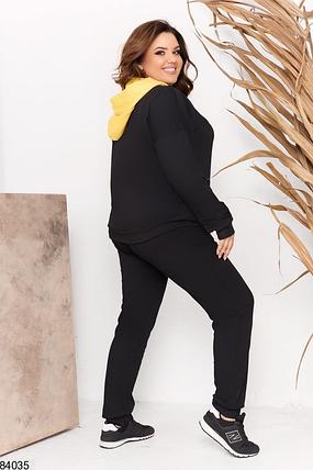 Спортивний костюм жіночий великого розміру Розміри: 48-50, 52-54, 56-58, фото 2