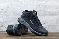Кожаные зимние ботинки мужские Jordan   натуральная кожа + натуральная шерсть набивная + термополиуретан