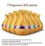 Ультразвуковий зволожувач повітря аромадиффузор з LED підсвічуванням NBZ Mini Atomization Humidifier Light Wood, фото 2