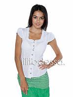 Блуза батист белая, фото 1