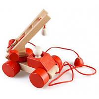 Деревянная игрушка Каталка - конструктор Пожарный Ду-03 Руди