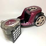 Колбовый пилосос без мішка Henschll XN19-88 (4 л) 3000Вт Циклоный,побутової,для дому,безмішковий потужний, фото 7