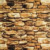 Глянцевая 3Д панель стеновая Камни Булыжники 5 шт моющиеся 3d панели для стен каменная кладка 700x770x5мм