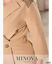 Елегантні сукні-міді приталеного силуету на запах Великий розмір від 50 до 60, фото 3
