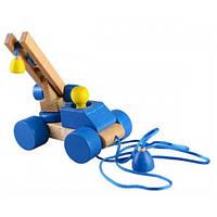 Деревянная игрушка Каталка ― конструктор Автокран Ду-05 Руди