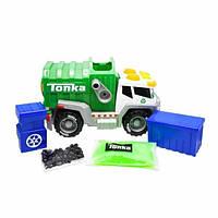 Tonka Мусоровоз миксер со слаймом 06010 Basic Fun Mega Machines Mighty Mixers Recycling Truck