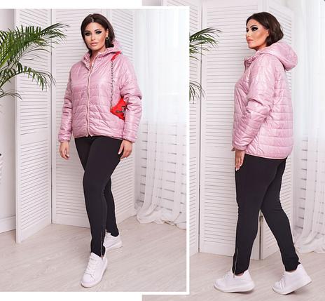 Короткая демисезонная куртка, размеры: 46-48, 50-52, 54-56, 58-60, 62-64, 66, фото 2