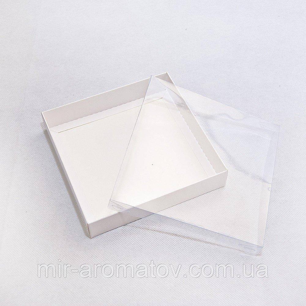 Коробка з прозорою кришкою універсальна 15*15 х 3 см біла 10шт
