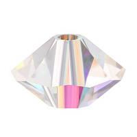 Хрустальные бусины Spacer Preciosa (Чехия) 4х6 мм, Crystal AB