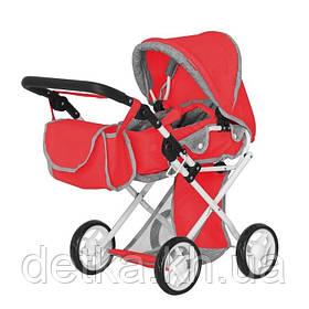 Коляска для ляльки CARRELLO UNICO 9346 RED з сумкою