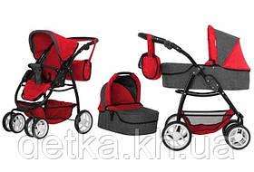 Коляска для ляльки 2в1 CARRELLO AVANTI 9662 RED з сумкою