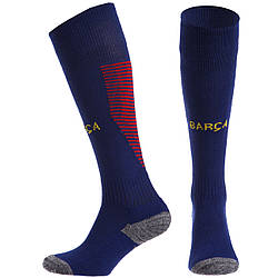 Гетры футбольные с символикой футбольного клуба SPOINT BARCELONA HOME CO-6438-BAR-B (размер 32-39,