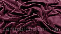 Двухстороння ткань велюр (плюш) цвет марсала