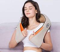Роликовий масажер електричний electric massager 220 для шиї, спини, плечей, ніг, всього тіла з підігрівом