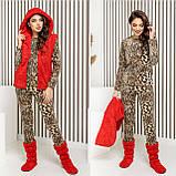 Домашний  женский уютный набор из пижамки плюс жилет плюс сапожки 42-48р., фото 2