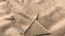 Двухстороння ткань велюр (плюш) светло-коричневый цвет