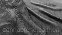 Двухстороння ткань велюр (плюш) серый цвет