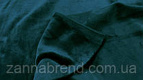 Двухстороння ткань велюр (плюш) изумрудный цвет