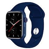 Смарт часы Фитнес браслет трэккер Apl Watch Series 7 Z36 пульсометром тонометром синие + Подарок, фото 3