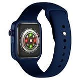 Смарт часы Фитнес браслет трэккер Apl Watch Series 7 Z36 пульсометром тонометром синие + Подарок, фото 6