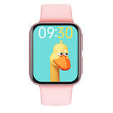 Смарт часы Фитнес браслет трэккер Smart Watch GT9 пульсометром тонометром голосовой вызов розовые + Подарок, фото 2