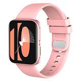 Смарт часы Фитнес браслет трэккер Smart Watch GT9 пульсометром тонометром голосовой вызов розовые + Подарок, фото 4