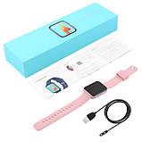 Смарт часы Фитнес браслет трэккер Smart Watch GT9 пульсометром тонометром голосовой вызов розовые + Подарок, фото 5