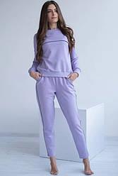 Женский хлопковый костюм для прогулок. Wiktoria 1022 lilac