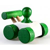 Деревянная игрушка Машинка Малыш, зелёная Ду-08 Руди