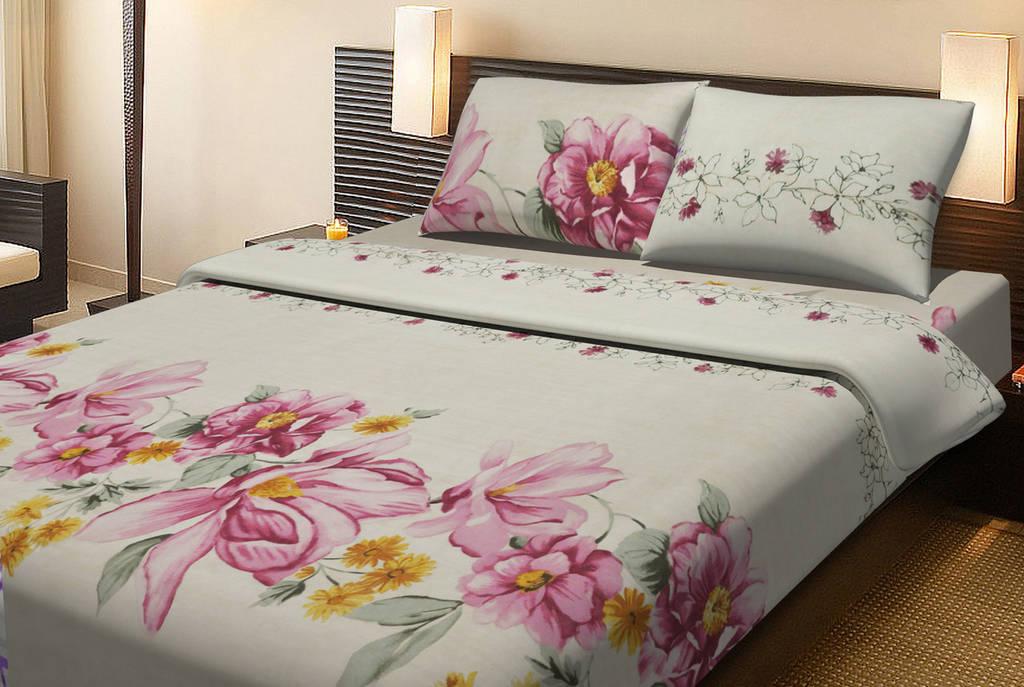Постельное белье Lotus Ranforce Carlin кремовый двуспального размера