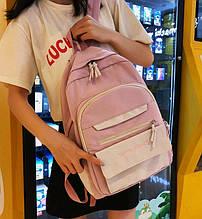 Красивый розовый рюкзак. Школьный портфель. Женская сумка. Детский портфель ранец. С231