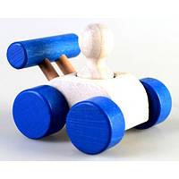 Деревянная игрушка Машинка Малыш, синяя Ду-08 Руди