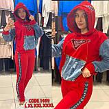 Женский  трикотажный брендовый костюм, (Турция); Размеры:50,52,54,56;Цвет: на фото., фото 3