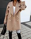 """Молодежное батальное теплое кашемировое пальто прямого кроя """"Jenny"""". Удобное короткое однотонное пальто из, фото 2"""