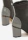 Ботильоны женские серые на устойчивом каблуке Д698, фото 4