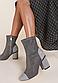 Ботильоны женские серые на устойчивом каблуке Д698, фото 5