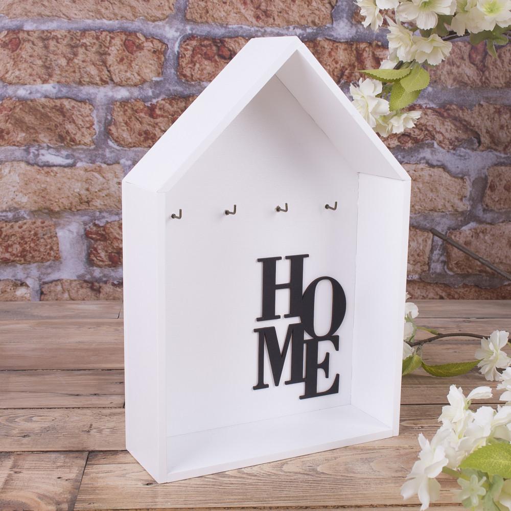 """Ключниця """"відкритий домік"""" біла home"""