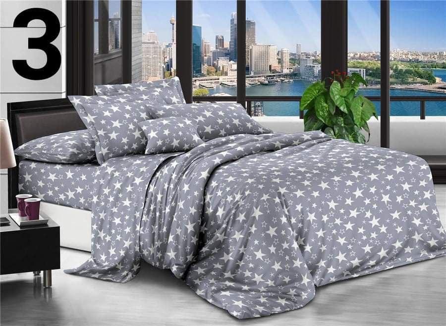 Комплект постельного белья Бязевый, размер Евро
