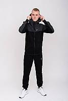 Флисовые спортивные костюмы мужские для прогулок найк, Спортивный Костюм Мужской Молодежный Зимний Теплый Nike