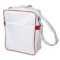 Повседневная сумка мужская на плечо для личных вещей из искусственной лакированной кожи