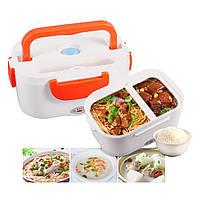 Ланч-бокс с подогревом The Electric Lunch Box / Лоток для подогрева еды ОРАНЖЕВЫЙ, фото 1