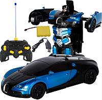 Машинка радіокерована трансформер Car Robot Bugatti 1:14 DEFORMATION NO:577, фото 1